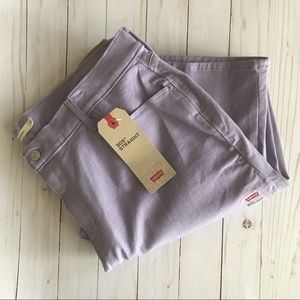 Levi's Plus Straight Lilac Mid Rise Jeans